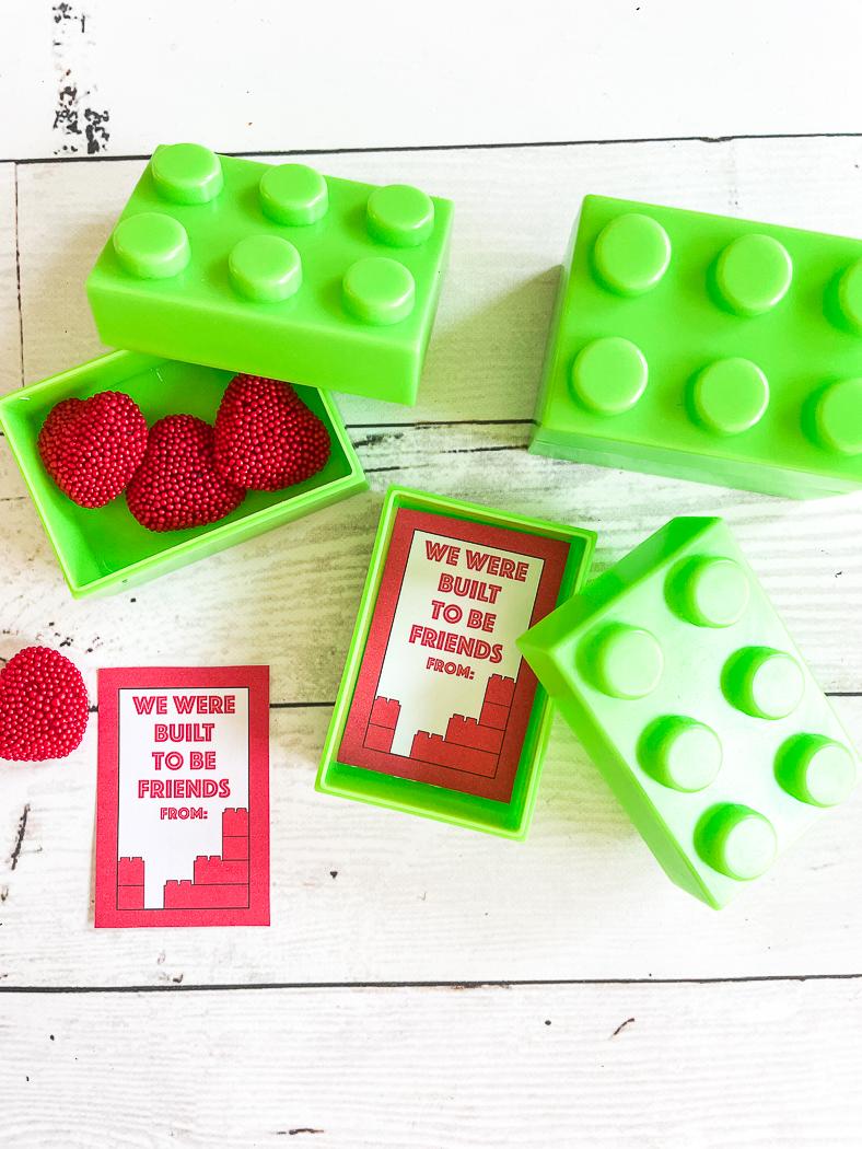 LEGO Printable Valentine Cards