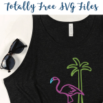 Black Flamingo Tank Top