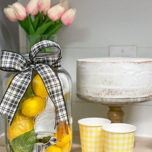 Cake Drink Cups Drink Dispenser Lemons