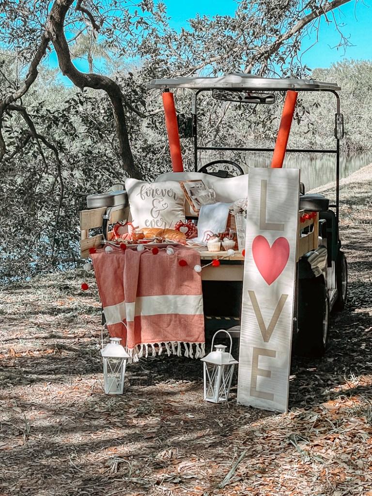 Valentine's Day Golf Cart