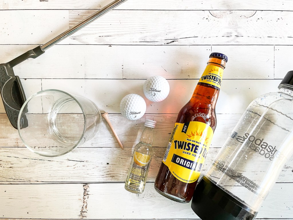 Twisted Tea Soda Stream Cocktail Glass Golf Balls