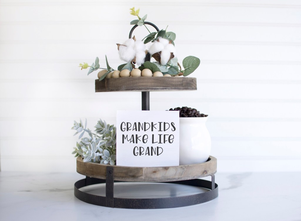 DIY Tiered Tray - Farmhouse - Grandparent SVG - Everyday Party Magazine