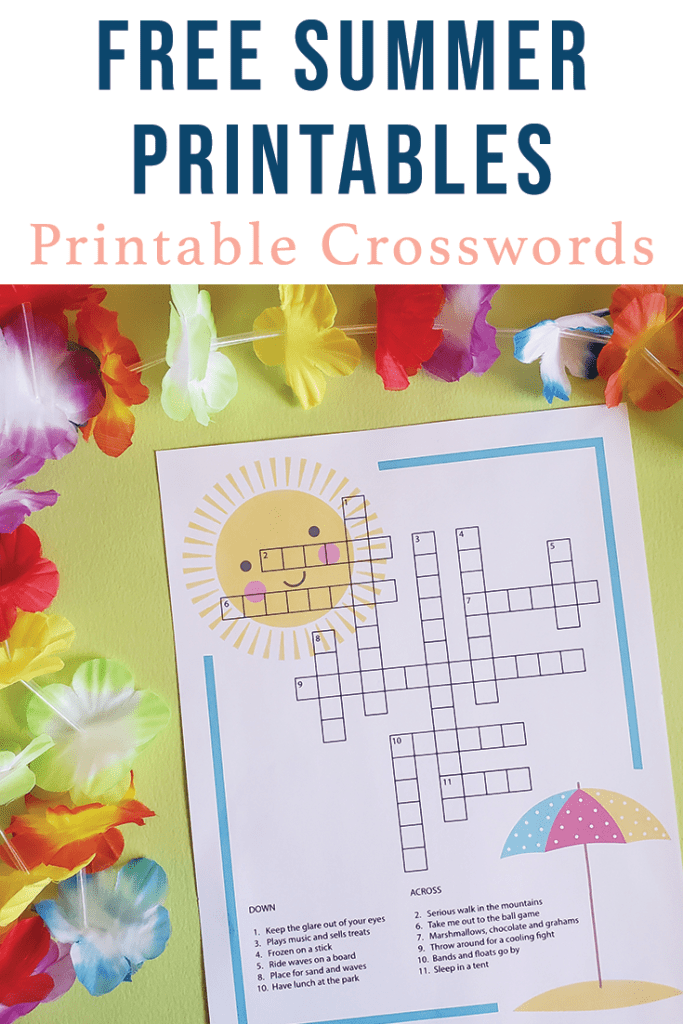 Summer Crossword Puzzle