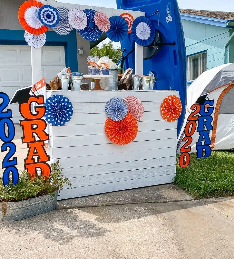 Orange and Blue Graduation Table