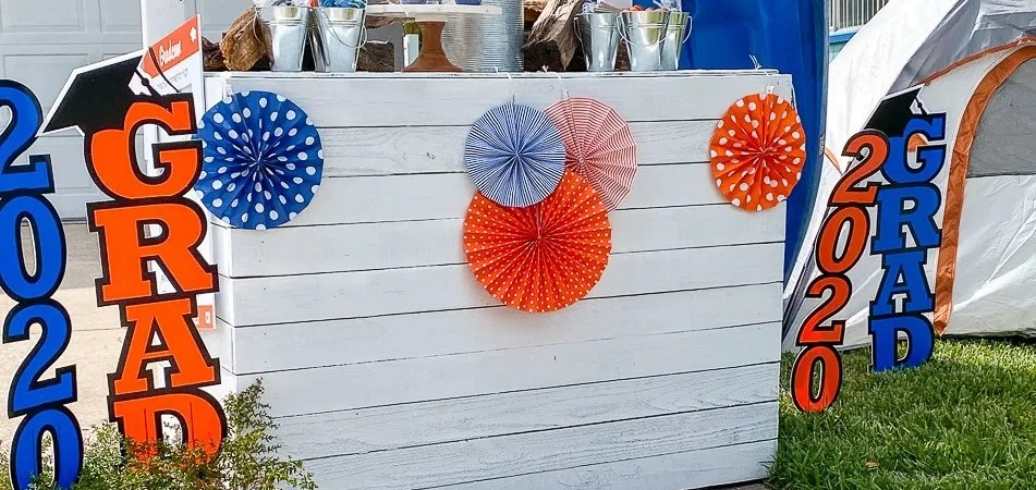 Orange and Blue Graduation Table