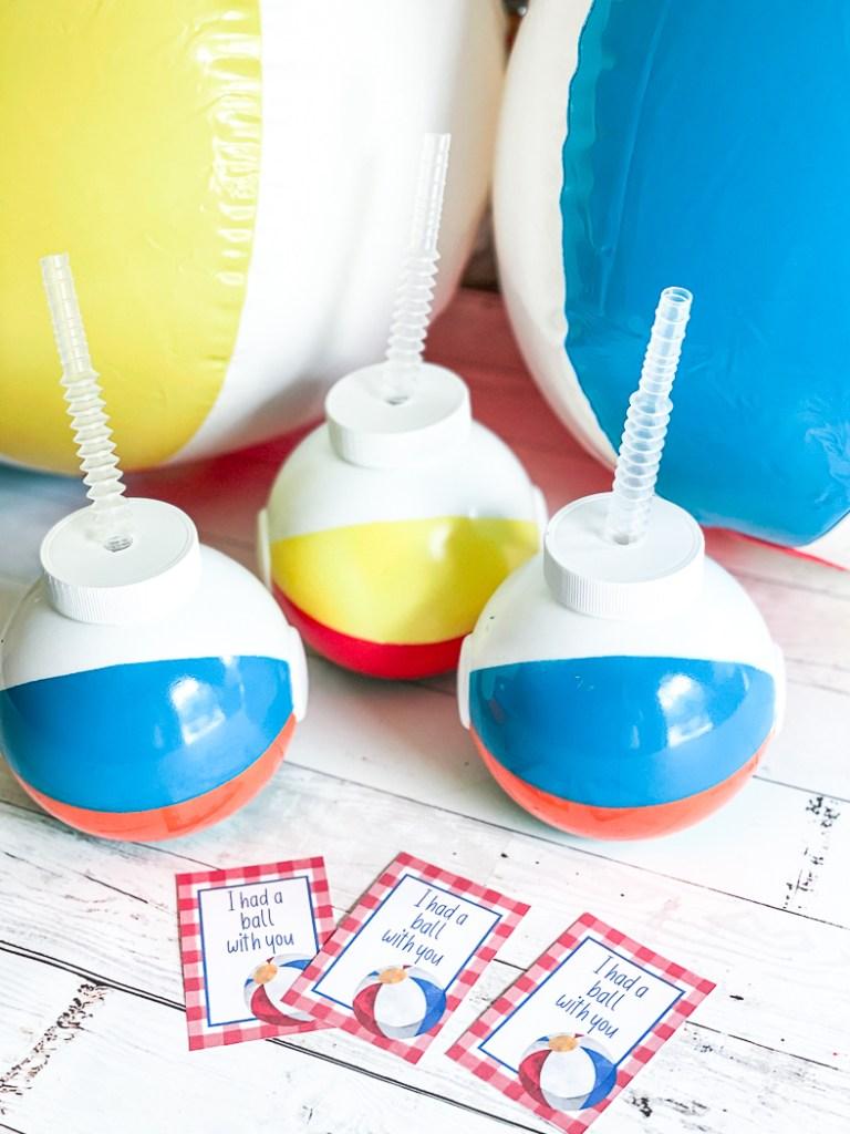 Beach Ball Cups