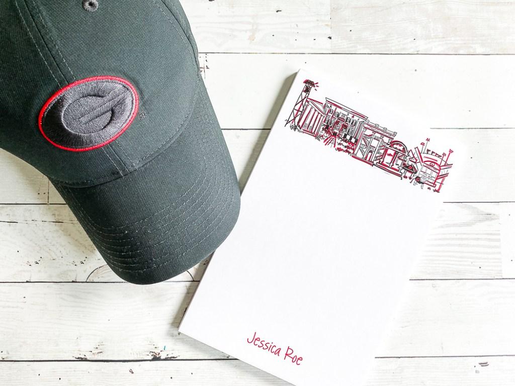 UGA Hat Note Pad