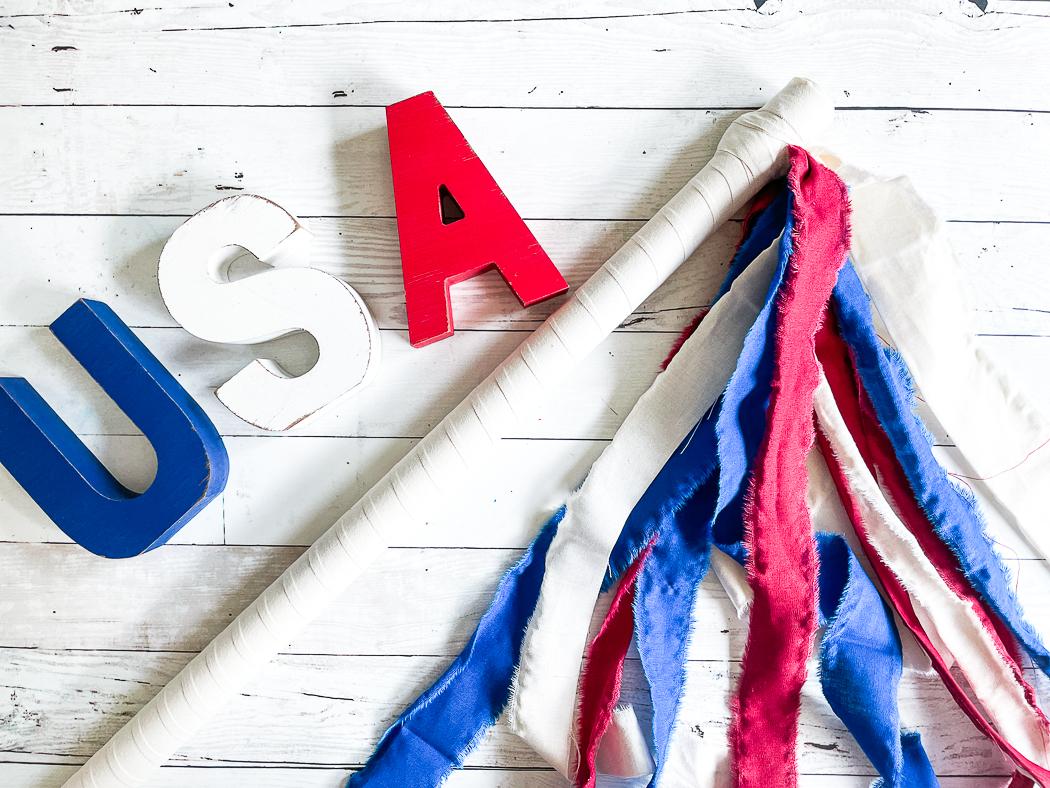 USA Rag Ribbon Baton