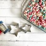 Star Cookie Cutter Sprinkles Cereal Krispie Treats