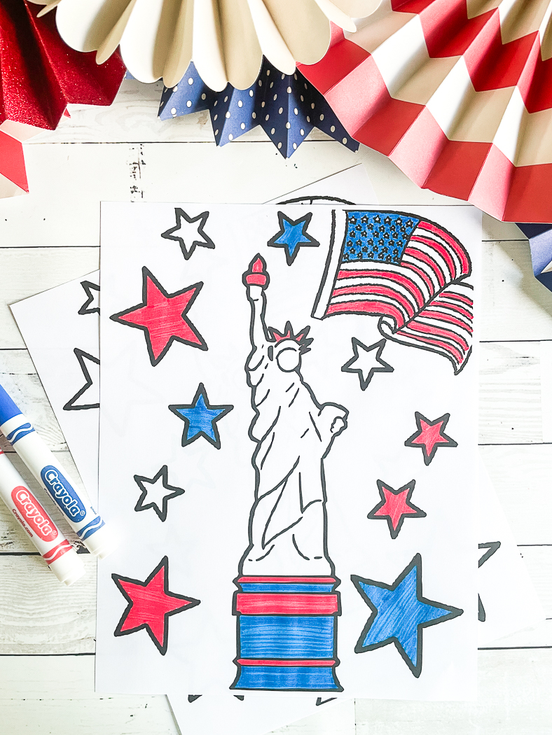 Patriotic Coloring Page