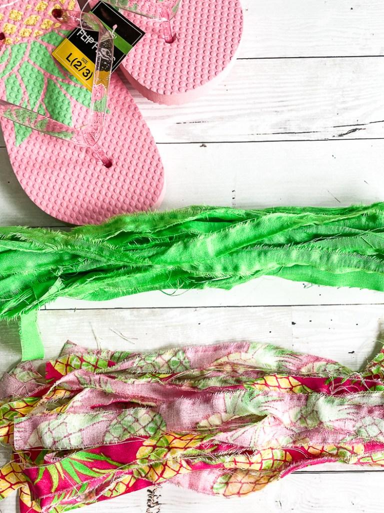 Flip Flops Fabric Scraps