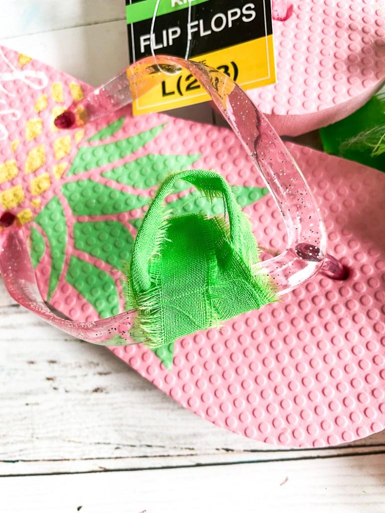 DIY Fabric Scrap Flip Flops