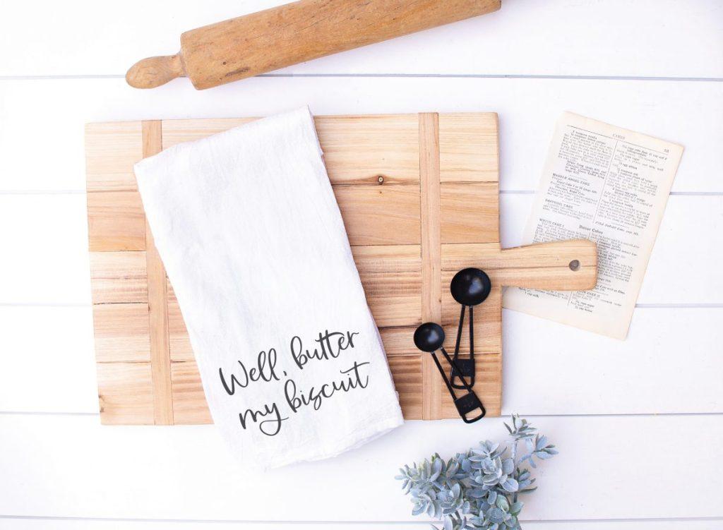 Tea Towel Cutting Board