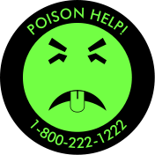 Mr. Yuk sticker. Antifreeze poisoning