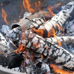 Photo of fire in a fire pit