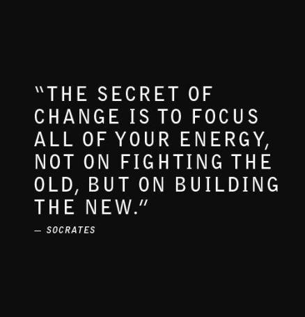 Inspirational Picture Quotes building the new