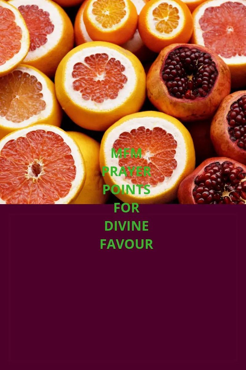 20 mfm prayer points for divine favour   PRAYER POINTS