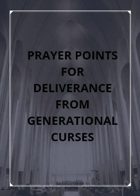 نقاط الصلاة ضد لعنات الأجيال