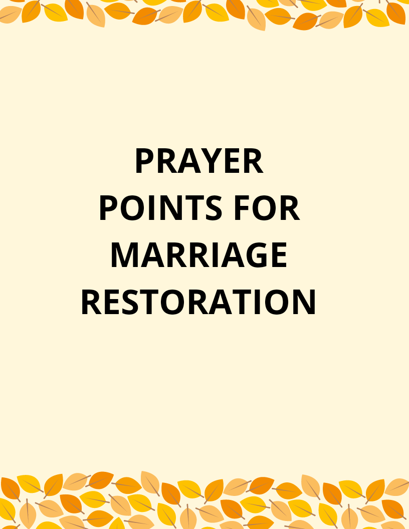 Marriage prayers adultery after for restoration 10 Hard