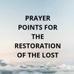Gebed vir die verlorenes