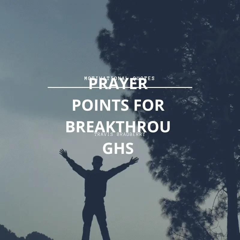 100 Prayers For Supernatural Breakthroughs | PRAYER POINTS