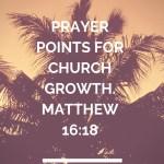 نقاط الصلاة لنمو الكنيسة