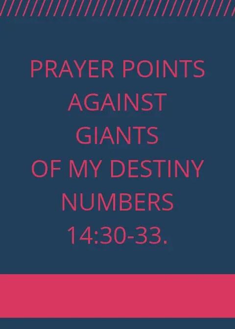 90 Prayer Points Against Giants In Your Destiny | PRAYER POINTS