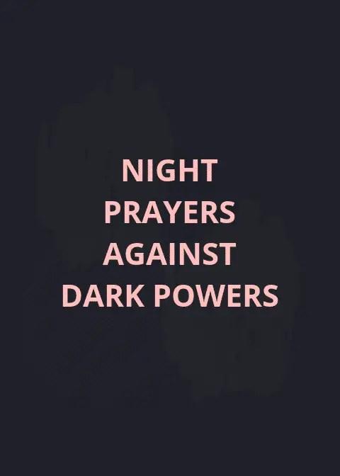 Powerful Night Prayers Against Dark Powers | PRAYER POINTS