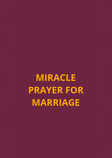 Miracle prayer for marriage
