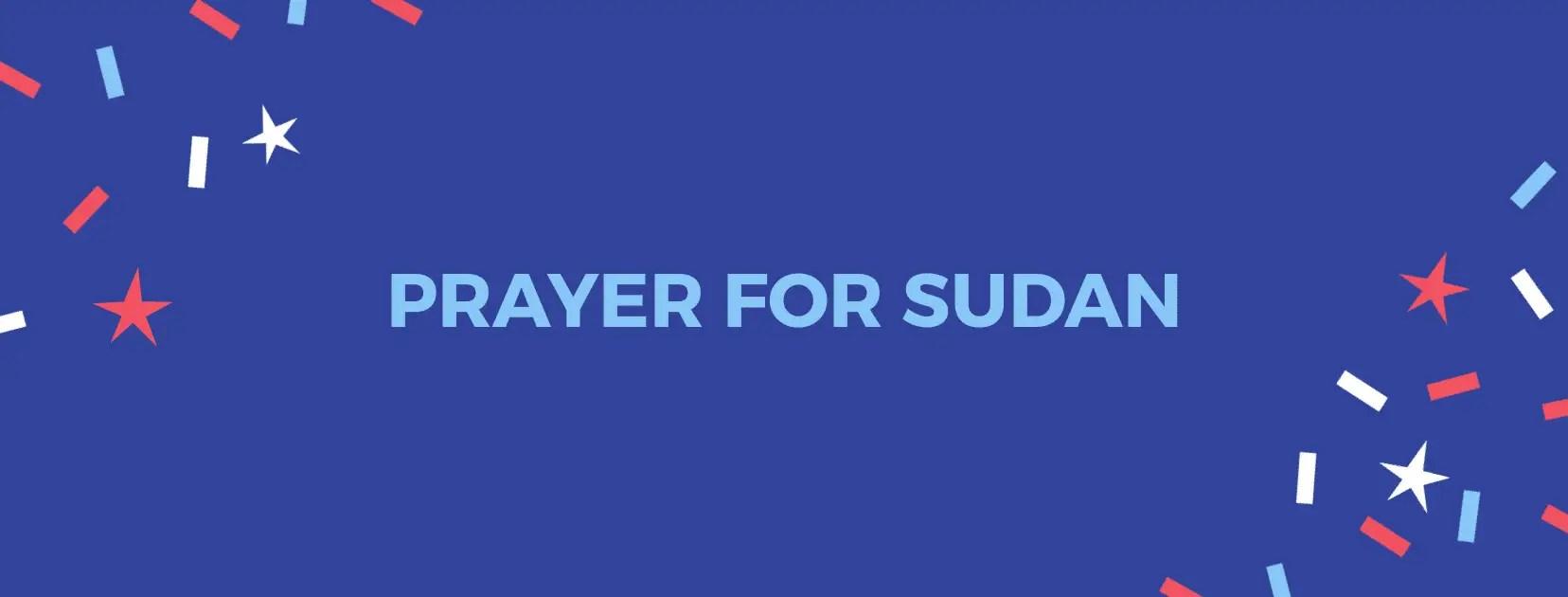 Gebed vir die volk Soedan