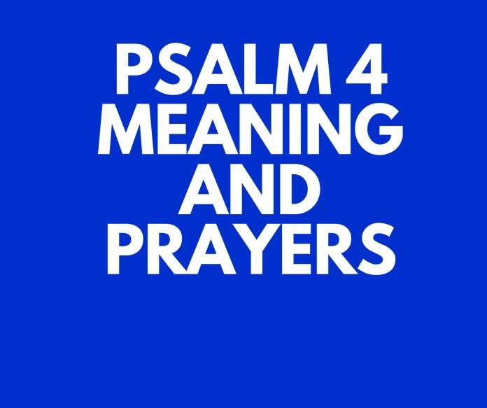 Psalm 4 Gebed om hulp
