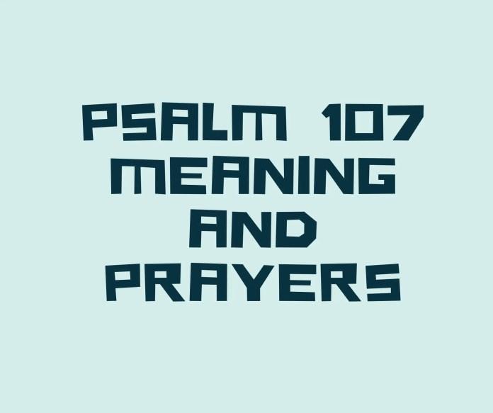PSALM 107 Az üzenet verse, vers
