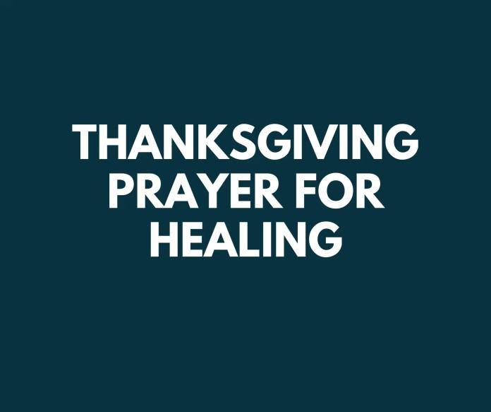 Dankseggingsgebede vir genesing