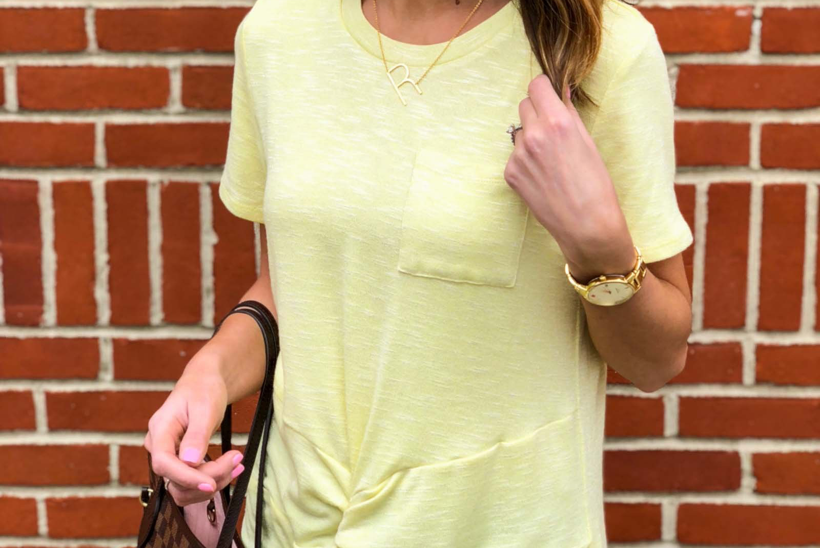 Yellow Twist Tee-14