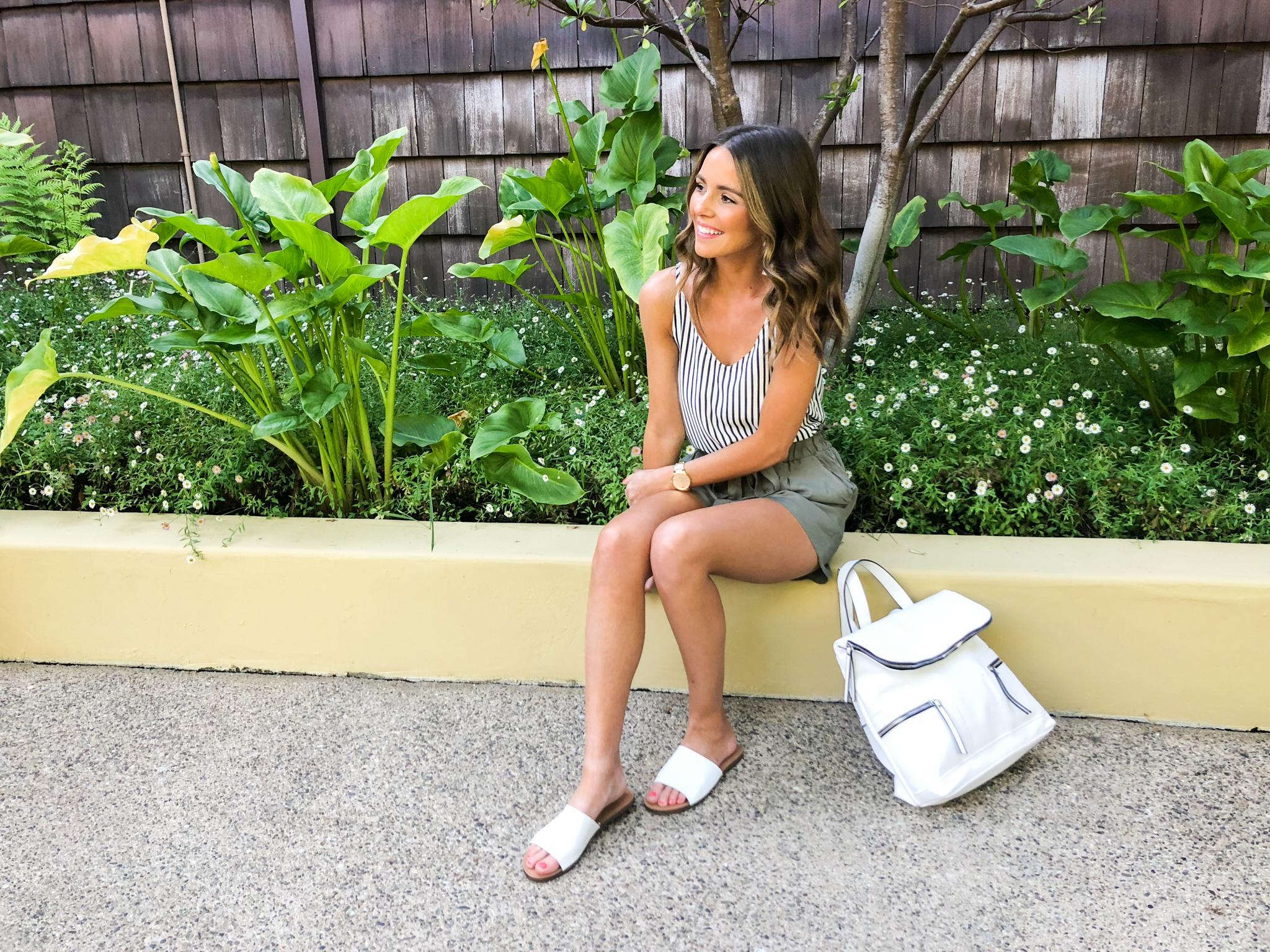 Olive Paperbag Shorts-32