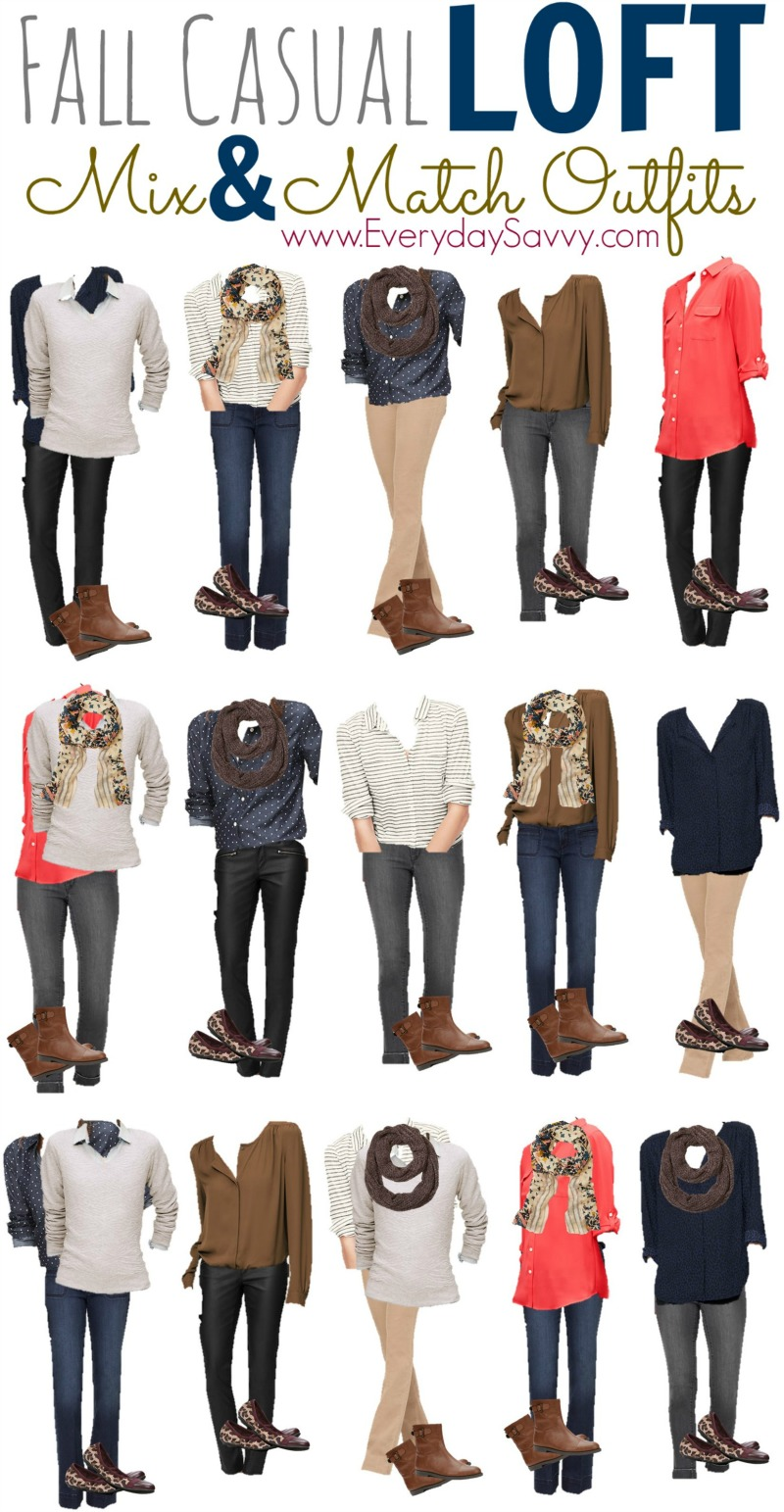 15 Fall Casual Mix And Match Outfits From Loft