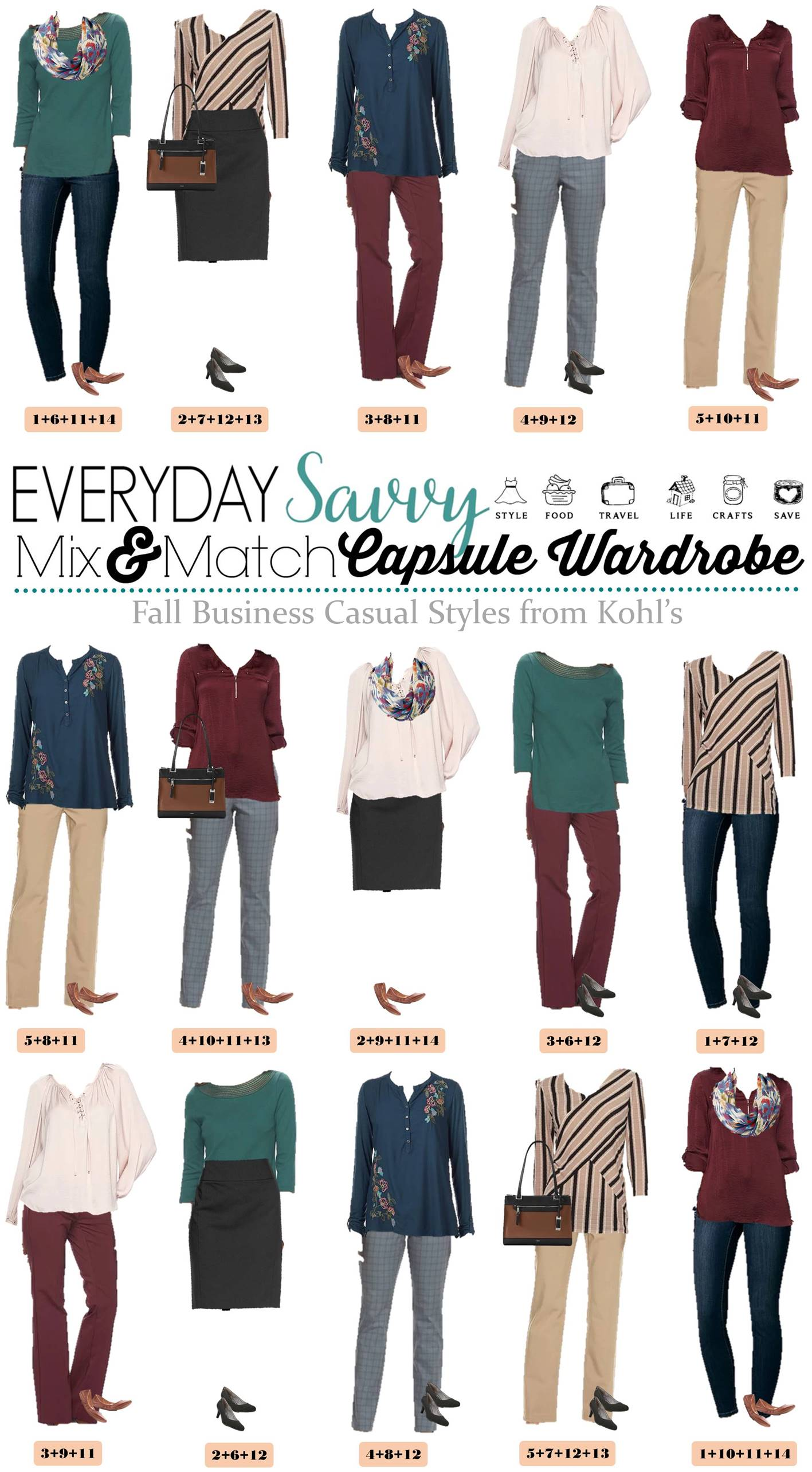 Vertical Office Diagram Template Kohls Business Casual Capsule Wardrobe For Fall