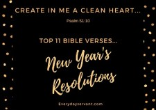 Top 11 Bible verses-New Years Resolutions