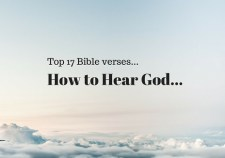 Top 17 Bible Verses-How to hear God