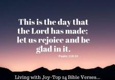 Top 24 Bible Verses-Living with Joy