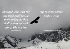 Top 12 Bible Verses-God's timing