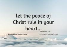 Top 22 Bible Verses-Peace