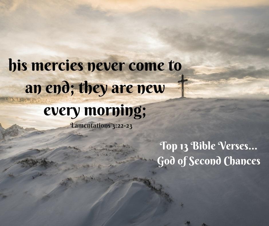 Top 13 Bible verses-God of second chances