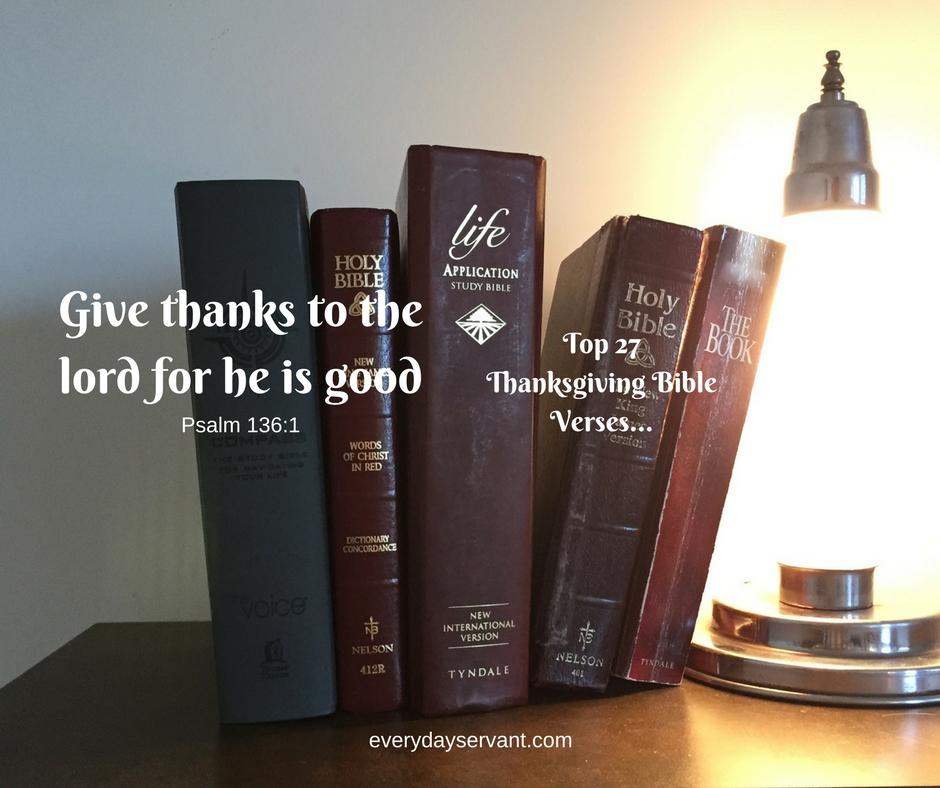 Top 27 Thanksgiving Bible Verses