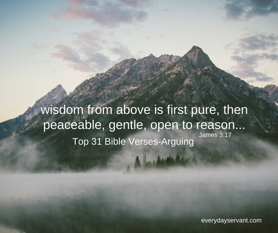 Top 31 Bible verses-Arguing