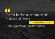 Top 7 Bible Verses-Faith for Tomorrow