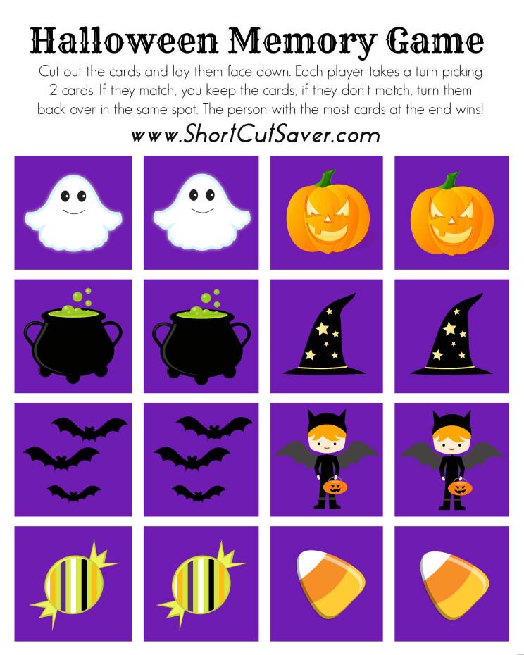 FREE Printable Halloween Memory Game - Everyday Shortcuts