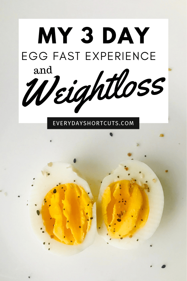 My 3 Day Egg Fast Experience and Weight Loss - Everyday ...