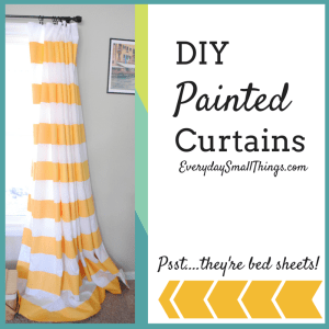 DIY Painted Curtains :: EverydaySmallThings.com