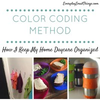 Color Coding Method: How I Organize My Home Daycare